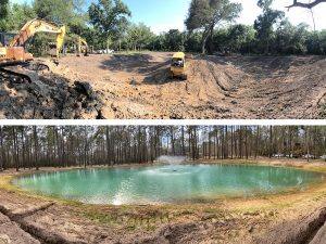 pond dug during and after